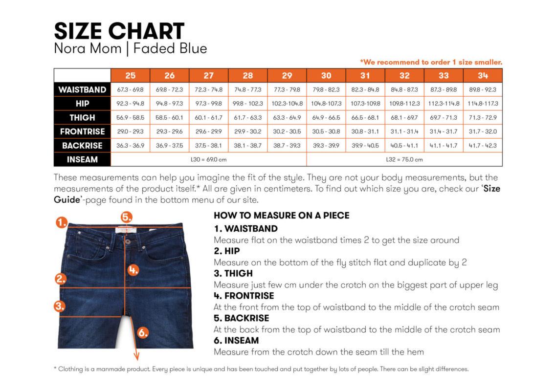 Size chart Nora