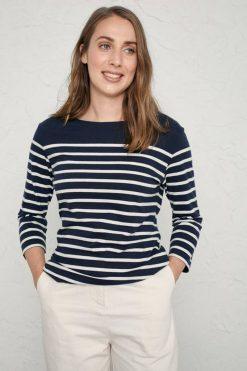 Sailor Shirt-Falmouth Breton Midnight Chalk