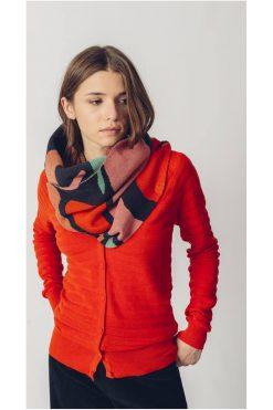 Skunkfunk-vestje-oranje-rood-Betti