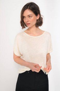 Kuyichi-T-shirt-linnen-off-white
