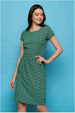 Tranquillo-jurkje-Jersey-dress-LEONORE-green-peas